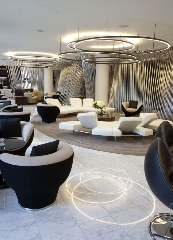 Modern Reception Area Lighting
