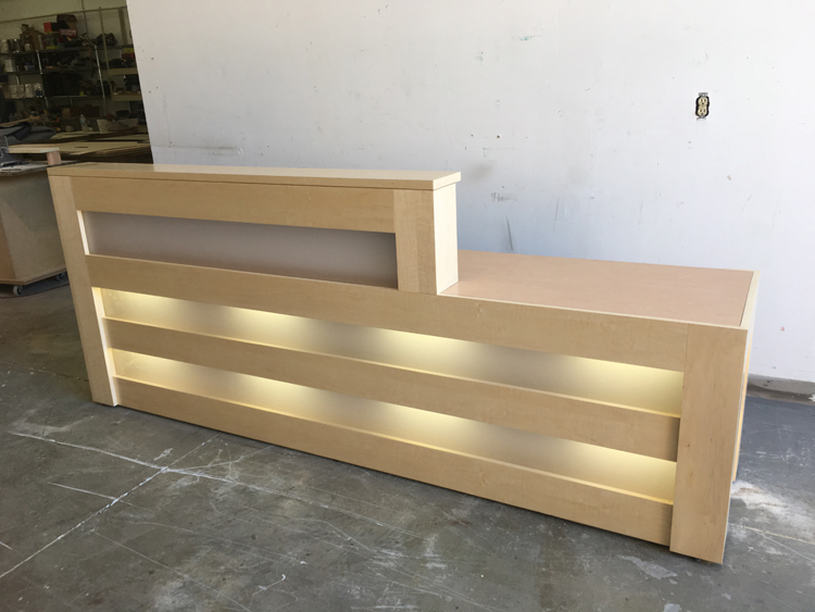 Tuscan Modern Reception Desk