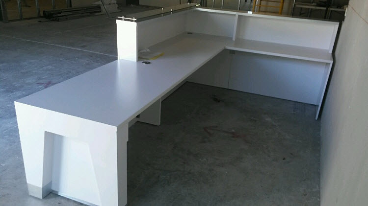 Baltimore Modern Reception Desk - rear view