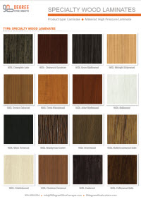 Speciality Laminate color charts