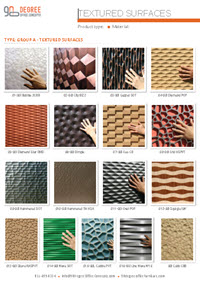 Textured Surfaces color chart