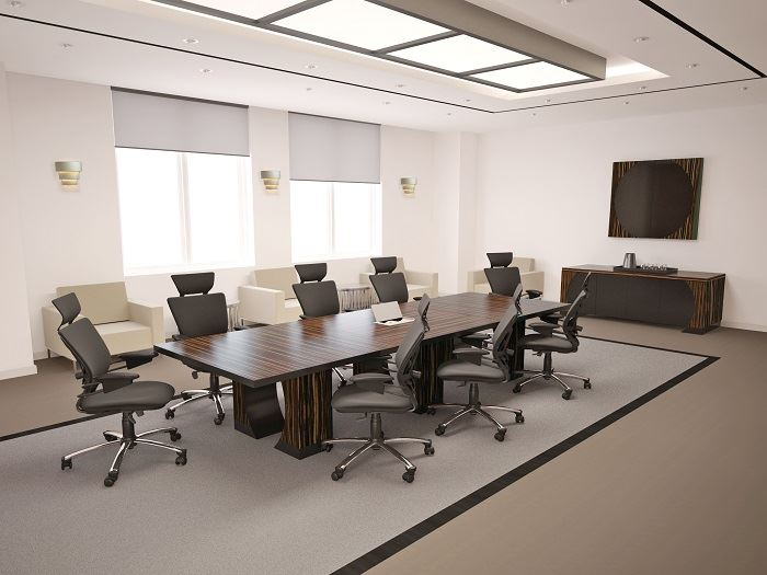Zabano contemporary conference table 90 degrees office for Modern office furniture design concepts