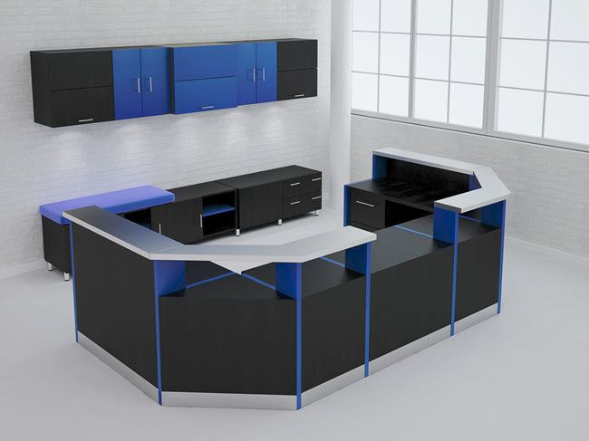 Coral Springs Auto Mall >> Anaheim Modern Reception Desk | 90 Degrees Office Concepts