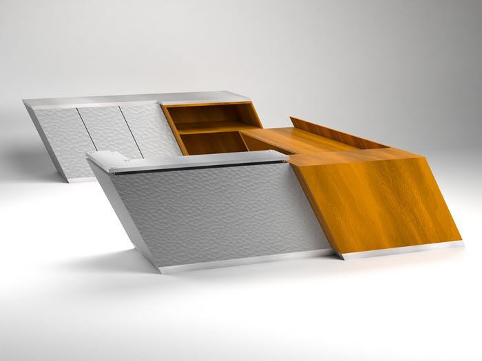 picture of nassau modern reception desk - Modern Reception Desk