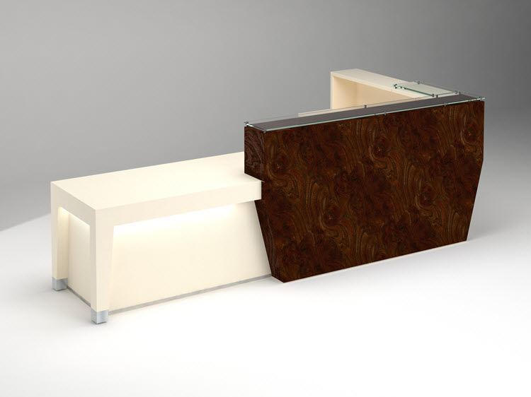 Baltimore Modern Reception Desk 90 Degrees Office Concepts