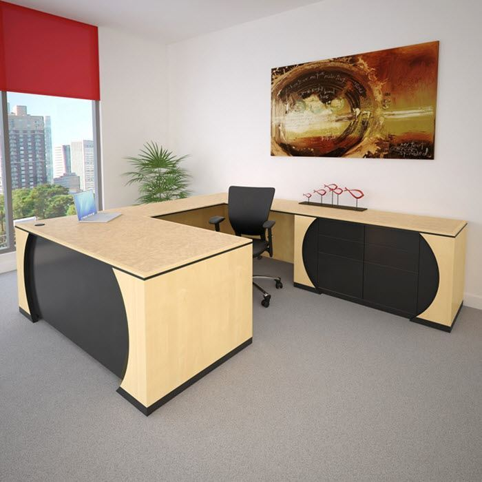 Zabana Modern Executive Desk 90 Degrees Office 90