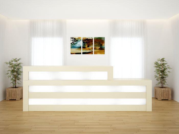 Coral Springs Auto Mall >> Tuscon Modern Reception Desk | 90 Degrees Office Concepts