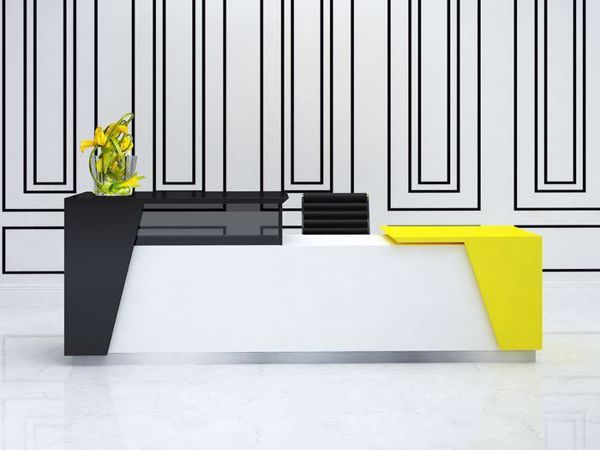 Austin Modern Reception Desk Hi-Lo