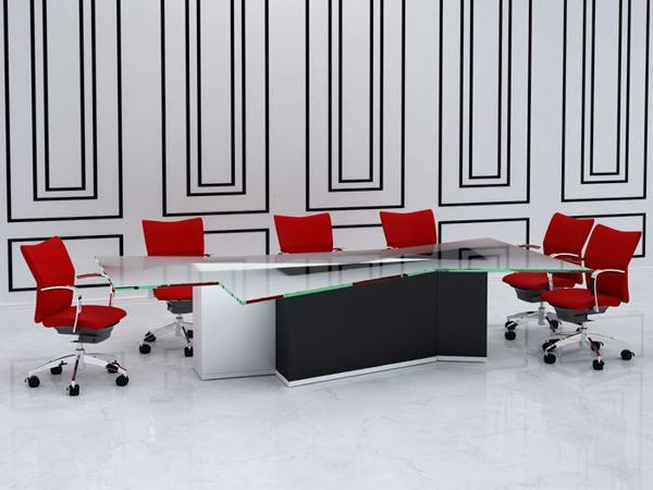 Hudson Contemporary Conference Table Degree Office Concepts - Contemporary modern conference table