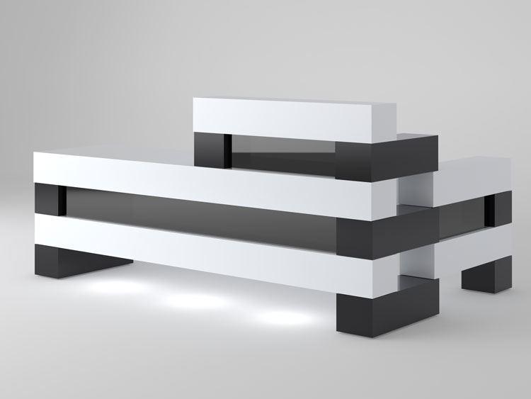 corpus christi modern reception desk black and white - Modern Reception Desk