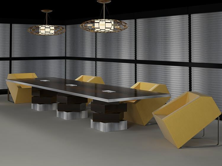 Albuquerque Modern Conference Table 90 Degree Office