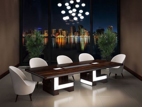 Virginia Modern Conference Table Room Scene