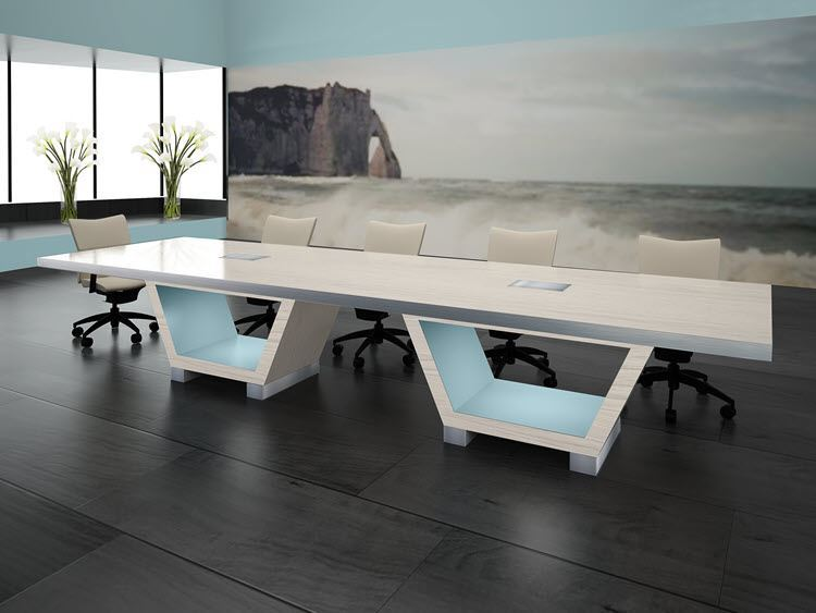 La Jolla Modern Conference Room Table Room Scene