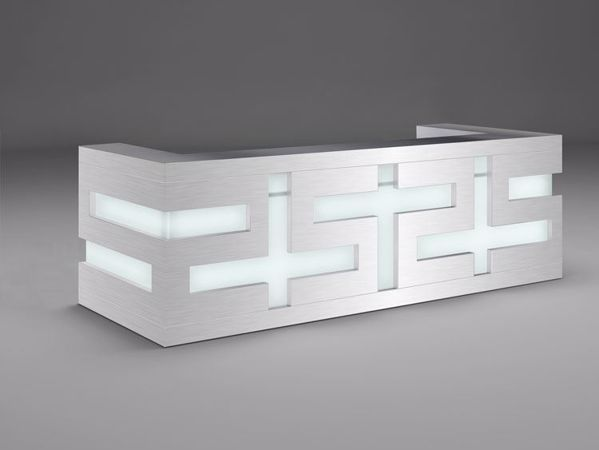 Amarillo Modern Reception Desk - without returns