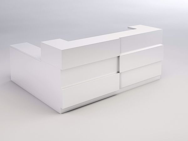 Monterey Modern Reception Desk - white