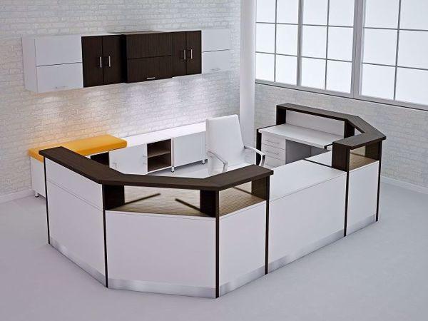 Anaheim Modern Reception Desk - white