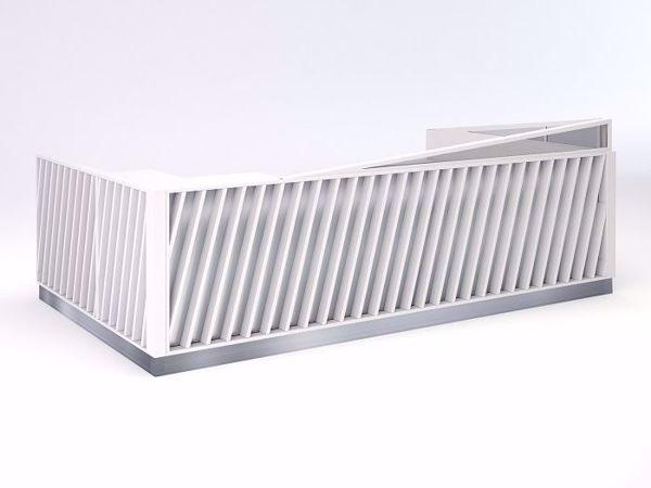 Arcadia Contemporary Reception Desk - White