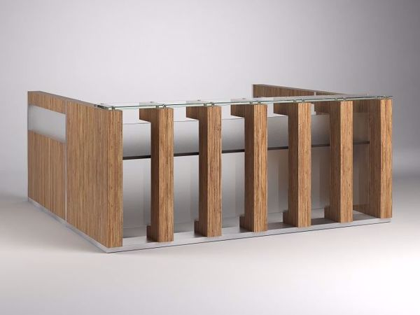 Arizona Contemporary Reception Desk with returns