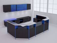 Anaheim Modern Reception Desk - black