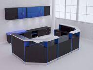 Anaheim Modern Reception Desk - black