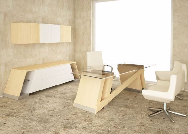 Baltoro Modern Executive Desk & Credenza