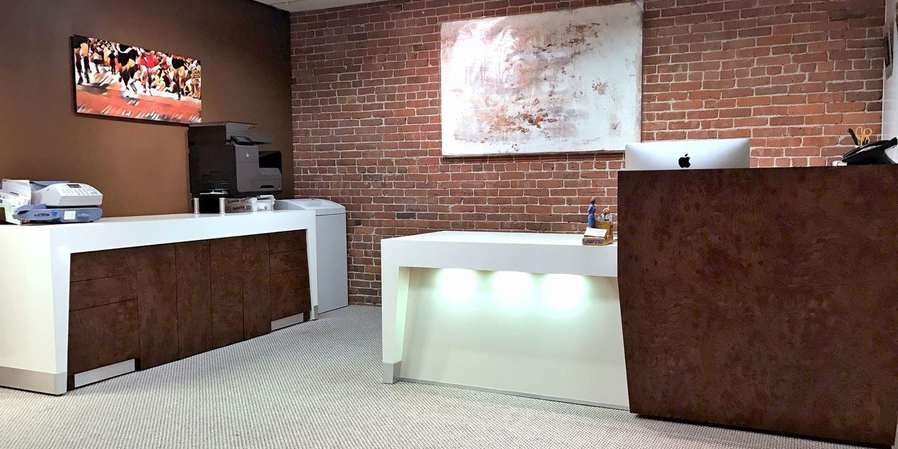 Baltimore modern reception station - Law Office of Esther Dezube