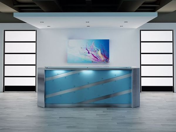 El Paso Modern Reception Desk