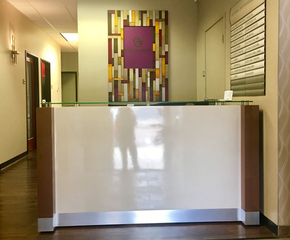 Cambridge reception desk for Equation Technologies