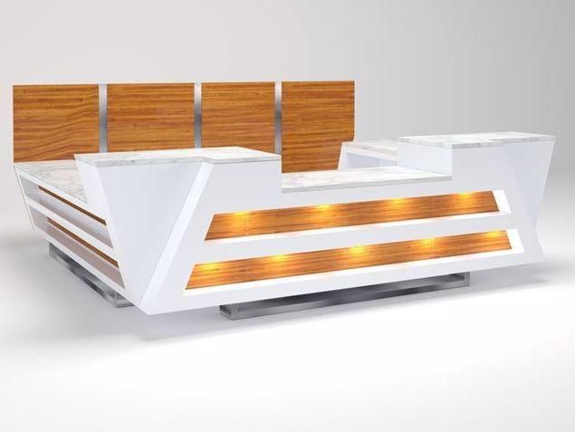 Brickell Modern Reception Desk