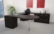 Europa modern executive desk side view 1