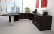 Europa modern executive desk side view 5
