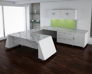 Giza Executive Desk in grey marble