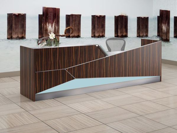 Manhassett Modern Reception Station Room Scene