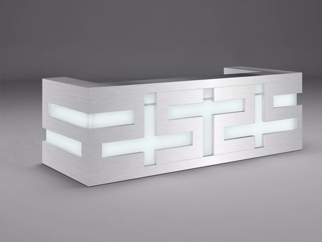 Amarillo Modern Reception Desk - without returns