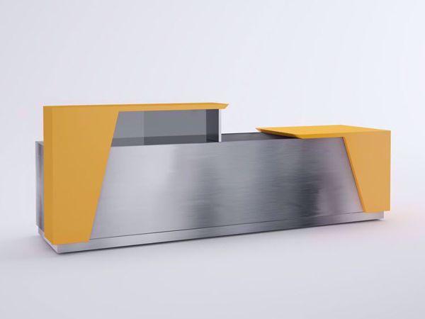 Austin Modern Reception Desk - Orange