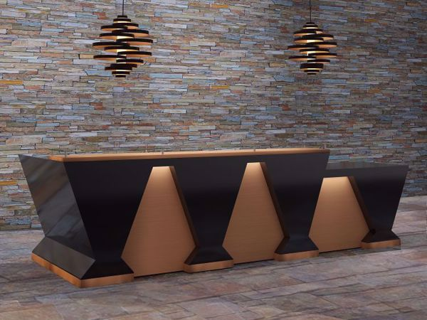 Corona Modern Reception Desk scene