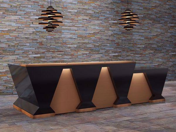Corona Modern Reception Desk scene