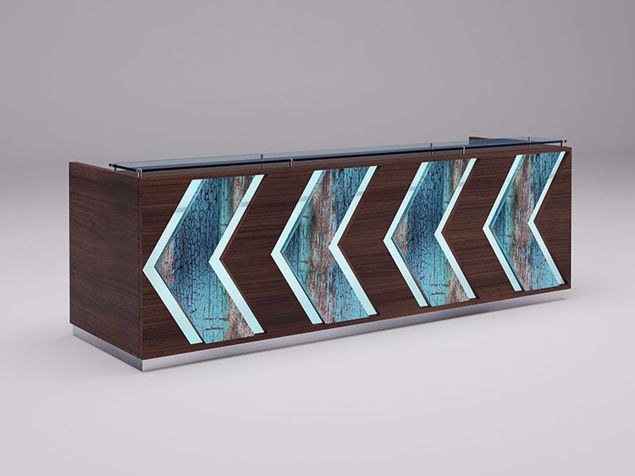 Columbia Modern Reception Desk