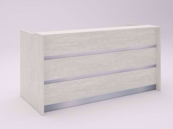 Albany Modern Reception Desk NO2 - White Wide