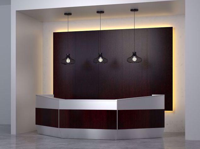 Portland Modern Reception Desk scene